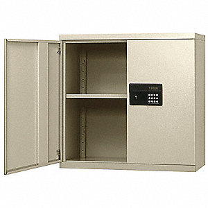 "Putty Wall Mount Storage Cabinet, 30"" Overall Height, 30"" Overall Width, Number of Shelves 2"