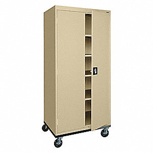 "Shelving Cabinet,72"" H,30"" W,Sand"