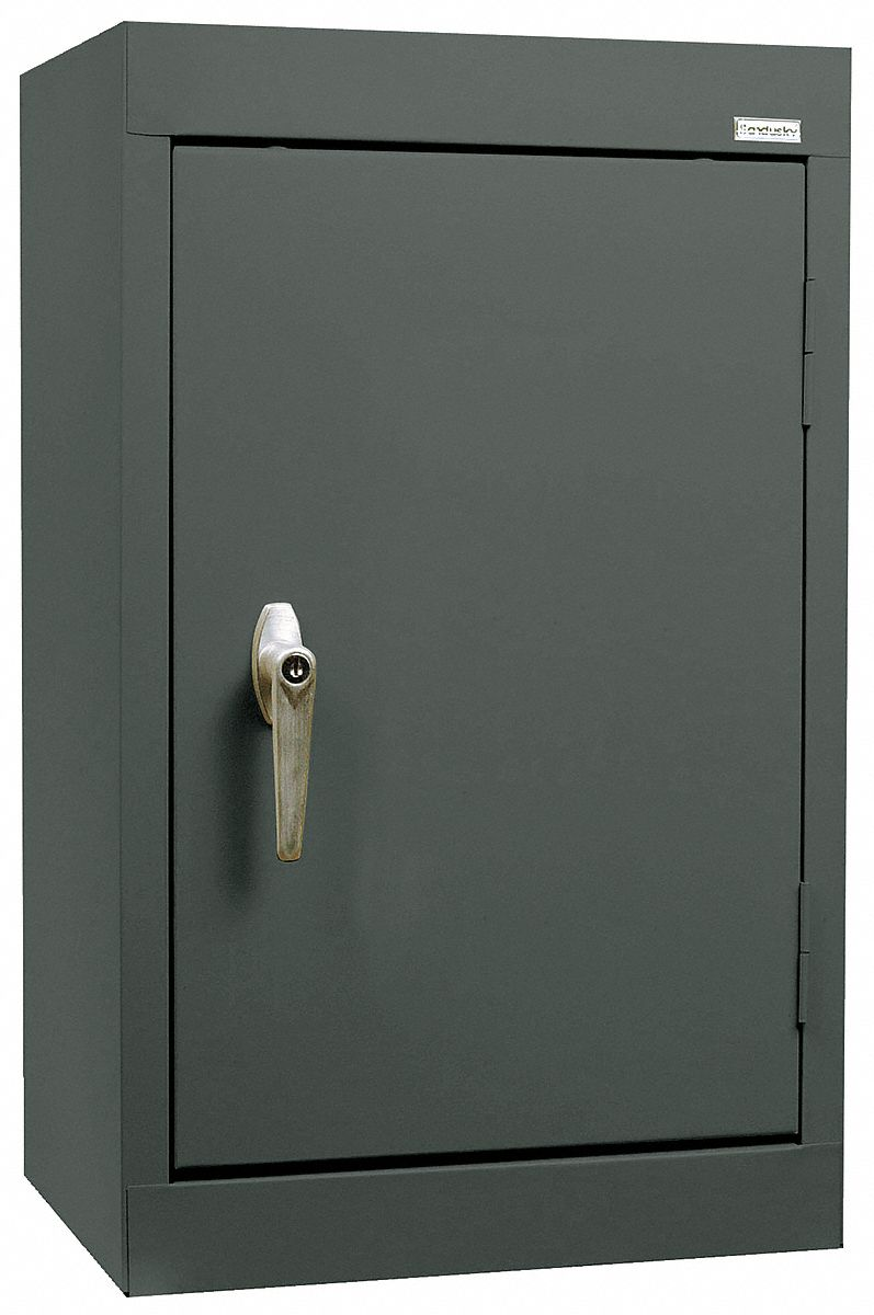 SANDUSKY LEE Charcoal Wall Mount Storage Cabinet 26 Overall