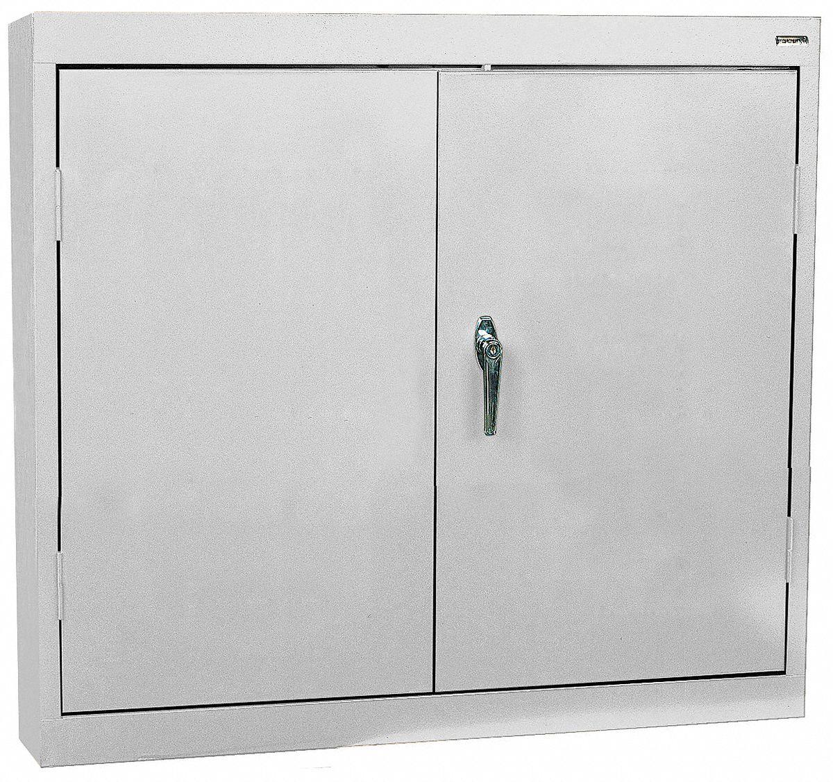 SANDUSKY LEE Dove Gray Wall Mount Storage Cabinet 30 Overall