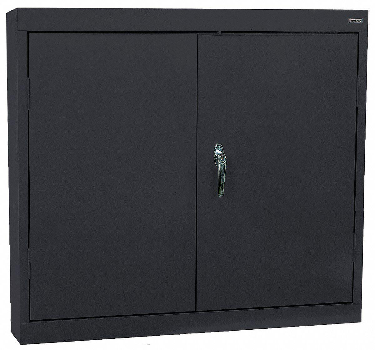 SANDUSKY LEE Black Wall Mount Storage Cabinet 30 Overall Height