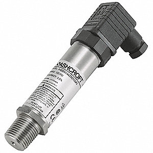 "1/2"" MNPT Intrinsically Safe Pressure Transmitter 0 to 15 psi, 4 to 20mA DC Output"
