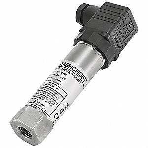"1/4"" FNPT Intrinsically Safe Pressure Transmitter 0 to 3000 psi, 4 to 20mA DC Output"