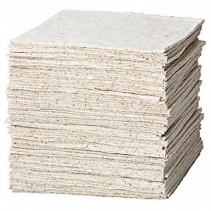 "19"" x 15"" Heavy Absorbent Pad for Oil-Based Liquids, White, 100PK"