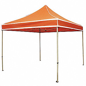 "Hi Viz Orange Instant Canopy, 9 ft. 8"" Length, 11 ft. Width, 10 ft. 2"" to 11 ft. 3"" Center Height"