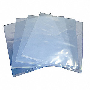 "Open Poly Bag, 4 mil, Clear Low Density Polyethylene (LDPE), Width 6"", Length 6"", 1000 PK"