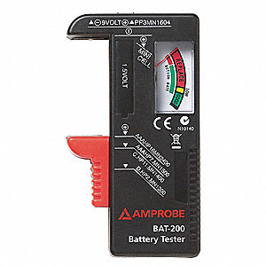 Battery Tester,9V, AA, AAA, C and D Cell