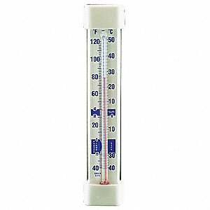 Analog Liquid Filled Food Service Thermometer with -40° to 120° Temp. Range (F)