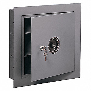 Wall Safe,Capacity 670 Cu.-In.