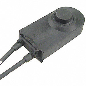 SPST Weatherproof Switch, Momentary with Wire Lead Terminals
