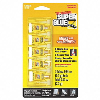 5DLE1 - Instant Adhesive 0.5g Tube Clear PK5