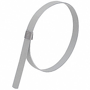 Galvanized Carbon Steel Preformed Band Clamp, PK of 10