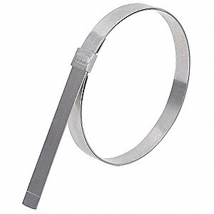 Galvanized Carbon Steel Preformed Band Clamp, PK of 24