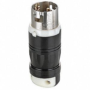 LOCKING PLUG,3P,4W,50A,250V DC/600V