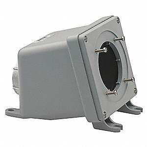 Angle Back Box, Nonmetallic, 60 Amps, Box Type: Dead End, Straight Angle