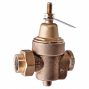 "Water Pressure Reducing Valve, Standard Valve Type, Lead Free Brass, 3/4"" Pipe Size"