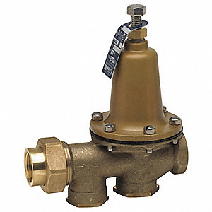 "Water Pressure Reducing Valve, Standard Valve Type, Lead Free Brass, 2"" Pipe Size"