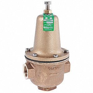 "Water Pressure Reducing Valve, Super Capacity Valve Type, Lead Free Brass, 1/2"" Pipe Size"