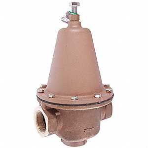 "Water Pressure Reducing Valve, Super Capacity Valve Type, Lead Free Brass, 1-1/2"" Pipe Size"