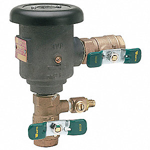 Anti-Siphon Backflow Preventer, Lead Free Brass, Watts 008 Series, IPS Connection
