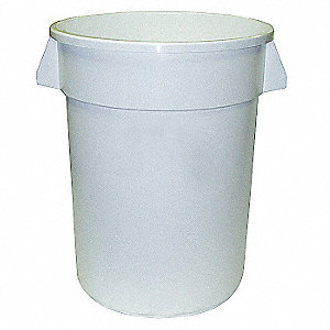 10 gal. Round White Utility Container
