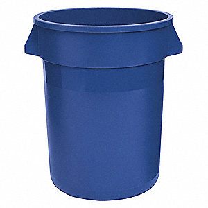 "20 gal. Round Open Top Utility Trash Can, 23""H, Blue"