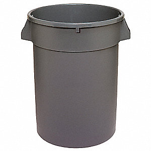 "Huskee 44 gal. Round Open Top Trash Can, 31-1/2""H, Gray"