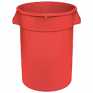 44 gal. Red, LLDPE Utility Container