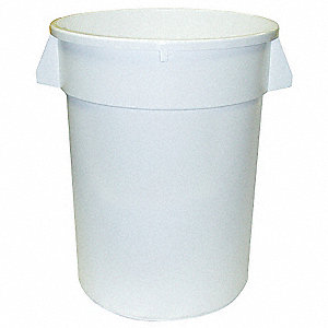 32 gal. White, LLDPE Utility Container