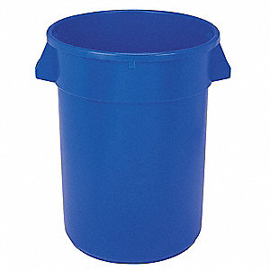 32 gal. Round Blue Utility Container
