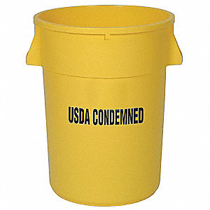 44 gal. Round Yellow Utility Container