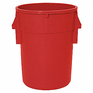 ROUND CONTAINER,44 GAL,24 IN,RED