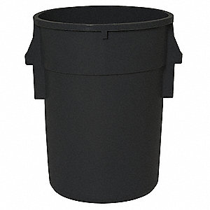 ROUND CONTAINER,44 GAL,24 IN,BLACK