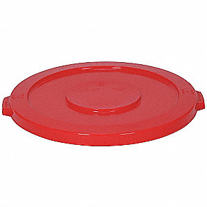 Flat-Type Trash Can Top for 32 gal. Container, Red
