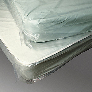 "90""L x 76""W Open Standard King Mattress Bag, Clear&#x3b; 1.50 mil Thickness"