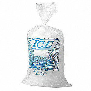 28 In. x 13-1/2 In. Metallocene Printed Ice Bags with 20 lb. Capacity&#x3b; PK500
