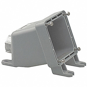 Angle Back Box, Nonmetallic, 20/30 Amps, Box Type: Dead End, Straight Angle