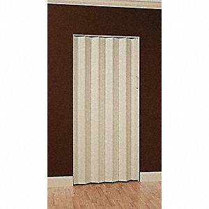 "80"" x 33"" Rigid Vinyl Folding Door, White"