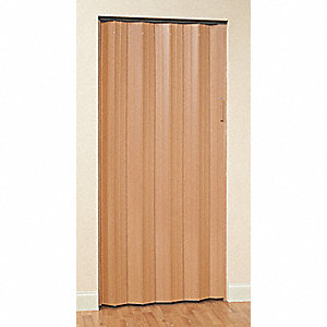 "96"" x 59-1/4"" Rigid Vinyl Folding Door, Oak"