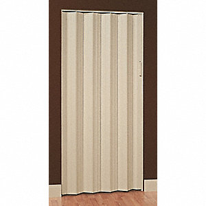 "96"" x 85-1/2"" Rigid Vinyl Folding Door, Khaki"
