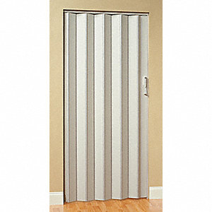 "80"" x 72"" Vinyl Laminated Medium Density Fiberboard Folding Door, White"