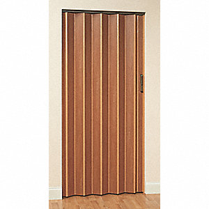 "80"" x 48"" Vinyl Laminated Medium Density Fiberboard Folding Door, Honeywood"