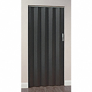 "80"" x 92"" Vinyl Laminated Medium Density Fiberboard Folding Door, Ebony Ash"