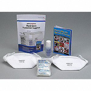 Flu and Germ Protection Kit, Size:  Universal, Number of Components: 6