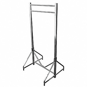 Coat Rack,Floor Stand,Dbl,72 In W