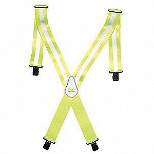 Suspenders,Yellow Lime,Universal
