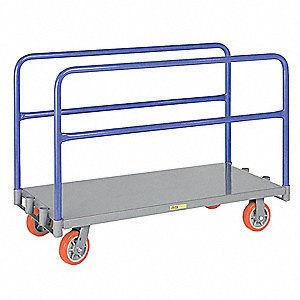 Adjustable Divider Panel Truck, 3600 lb. Load Capacity, (2) Swivel, (2) Rigid Caster Wheel Type