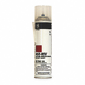 High Temp., Pressurized Can Red RTV Silicone Sealant, 8 oz.