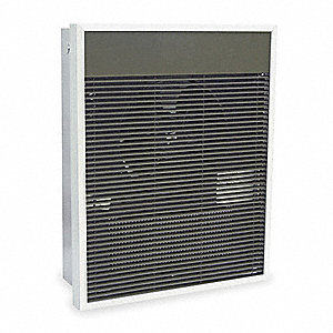 Electric Wall Heater, Recessed or Surface, 208/240VAC, Watts 3000/1500, 4000/2000