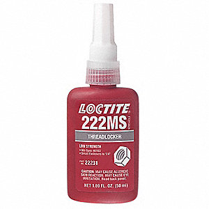 Threadlocker 222MS,50mL Bottle,Purple